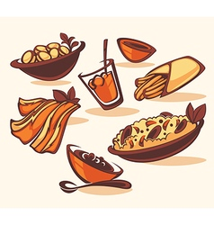 Spain menu vector