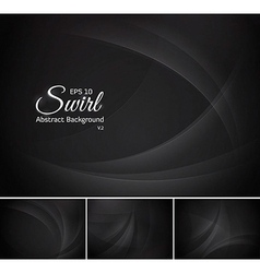 Swirl abstract background - black vector image vector image