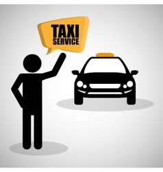 Taxi design transportation icon isolated vector