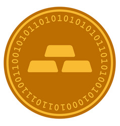 Treasure bricks digital coin vector
