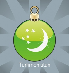 Turkmenistan flag in bulb vector image vector image