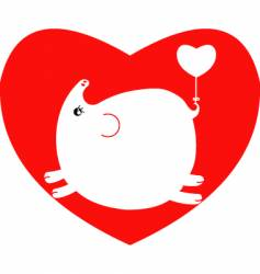 valentine pig vector image vector image