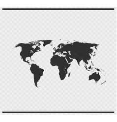 World icon black color on transparent vector