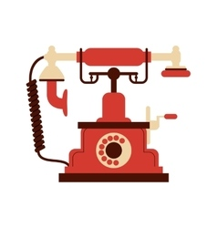 Retro rotary telephone icon vector