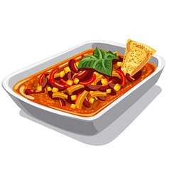 chilly spicy con carne vector image