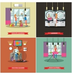 Cleaning service concept in vector image