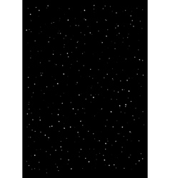 Clusters of star in the dark sky black background vector