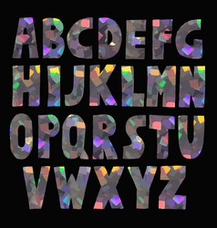 hand made glitter sparkling font vector image