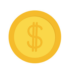 gold coin money with dollar sign symbol cash vector image