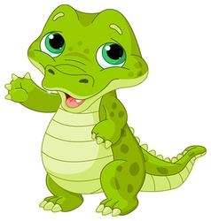 Baby alligator vector
