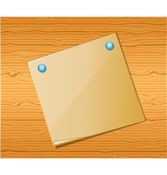 Wood texture with paper vector