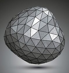 Deformed metallic object created from triangles vector