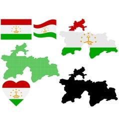 Map of tajikistan vector