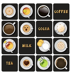 Collection of beverage vector
