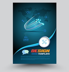 Cover printing template vector