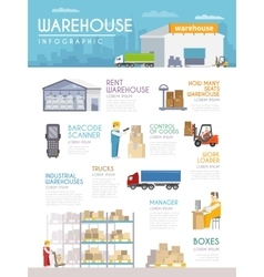 Warehouse infographics set vector