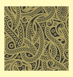 floral seamless ham paisley pattern vector image