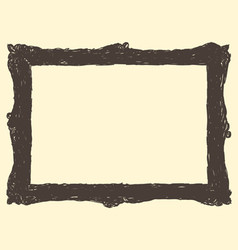 Cute picture frame drawing vector