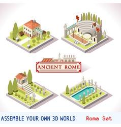 Roman 01 Tiles Isometric vector image