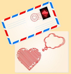Love letter for valentines day vector