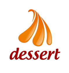 Abstract logo orange ice cream vector image vector image