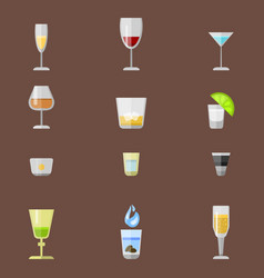 Alcohol drinks beverages cocktail appetizer lager vector