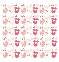 Baby set icons pattern isolated vector