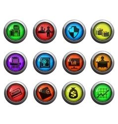 Bank icons set vector