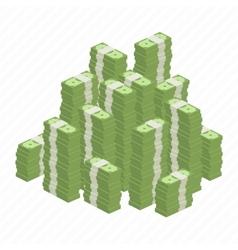 Big heap rolls of money vector