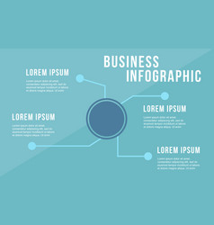 Business infographic design flat style vector