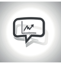 Curved rising graphic message icon vector