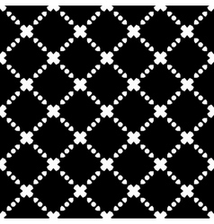 Elegant black and white rhombus seamless pattern vector
