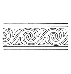 Evolute spiral modern border is a wavelike vector