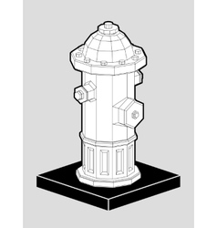 Fire hydrant isometric 3d vector