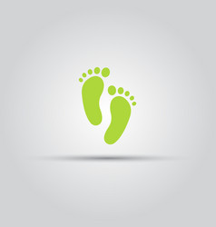 footprint isolated colored icon vector image