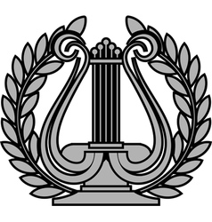 hellenic lyre vector image