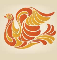 hippy dove vector image