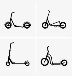 Kick scooters vector