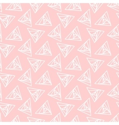 Light pink triangle geometric pattern vector image vector image