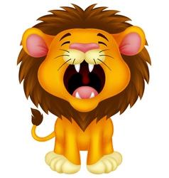 Lion cartoon roaring vector