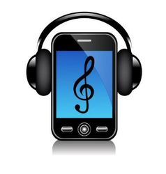 Mobile phone with headphones vector image