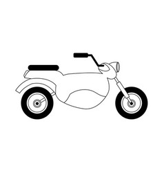 Motorcycle vehicle icon vector