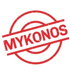 Mykonos rubber stamp vector