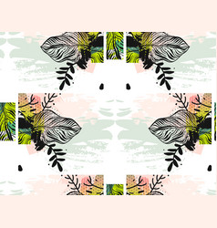 print summer exotic jungle plant tropical palm vector image