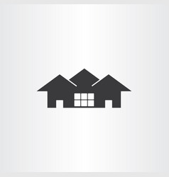 Real estate icon house vector