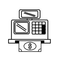 Register machine with money icon vector