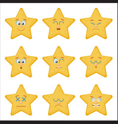 Set of emoticons flat style vector