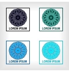 Set of round geometric symbol vector