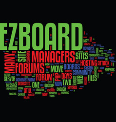The demise of ezboard text background word cloud vector