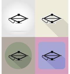 car equipment flat icons 12 vector image